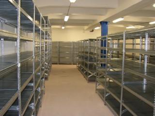 Regály do archivů na mírů