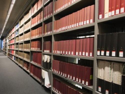 Ukázka regálu do archivu