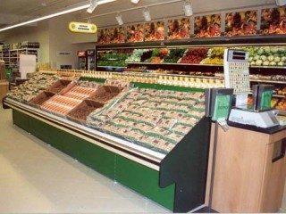 Prodejní regály ovoce a zelenina - obchod