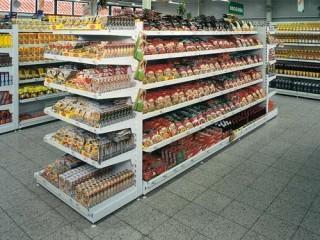 Prodejní policové regály na potraviny - výroba na míru