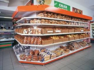Prodejní regály na pečivo a potraviny