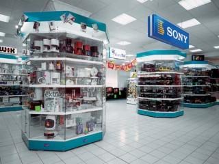 Prodejní regály pro elektro obchody