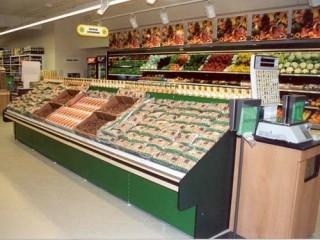Prodejní regály do obchodu na ovoce a zeleninu