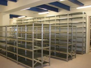 Regály na spisy a šanony do archivů