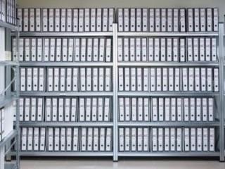 Regály na šanony do archivů